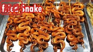 Азиатская Уличная Еда - Уличная Еда В Камбодже - Видео С Уличной Еды (Жареная Змея, Кхмерский Хруст