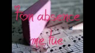 Ton absence me tue