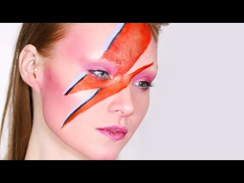 David BowieAladdin Sane Tribute Makeup Tutorial