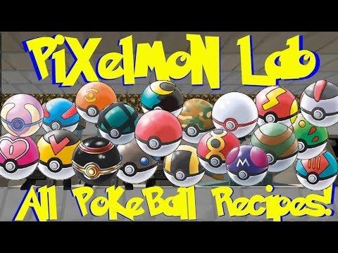 Pixelmon Lab: All Pokeball Crafting Recipes! (Minecraft Pokemon Mod)