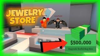 ROBLOX Jaibreak: Wie man SchmuckGeschäft ohne Sterben rob! - EARN 500k IN ROBBERY?!?