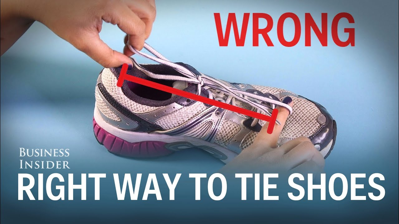 The right way to tie shoes youtube the right way to tie shoes ccuart Images
