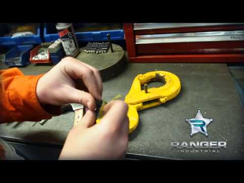 How to change a safety latch in a lifting hook