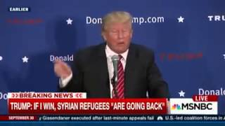 Trump Will Send Refugees Back Home