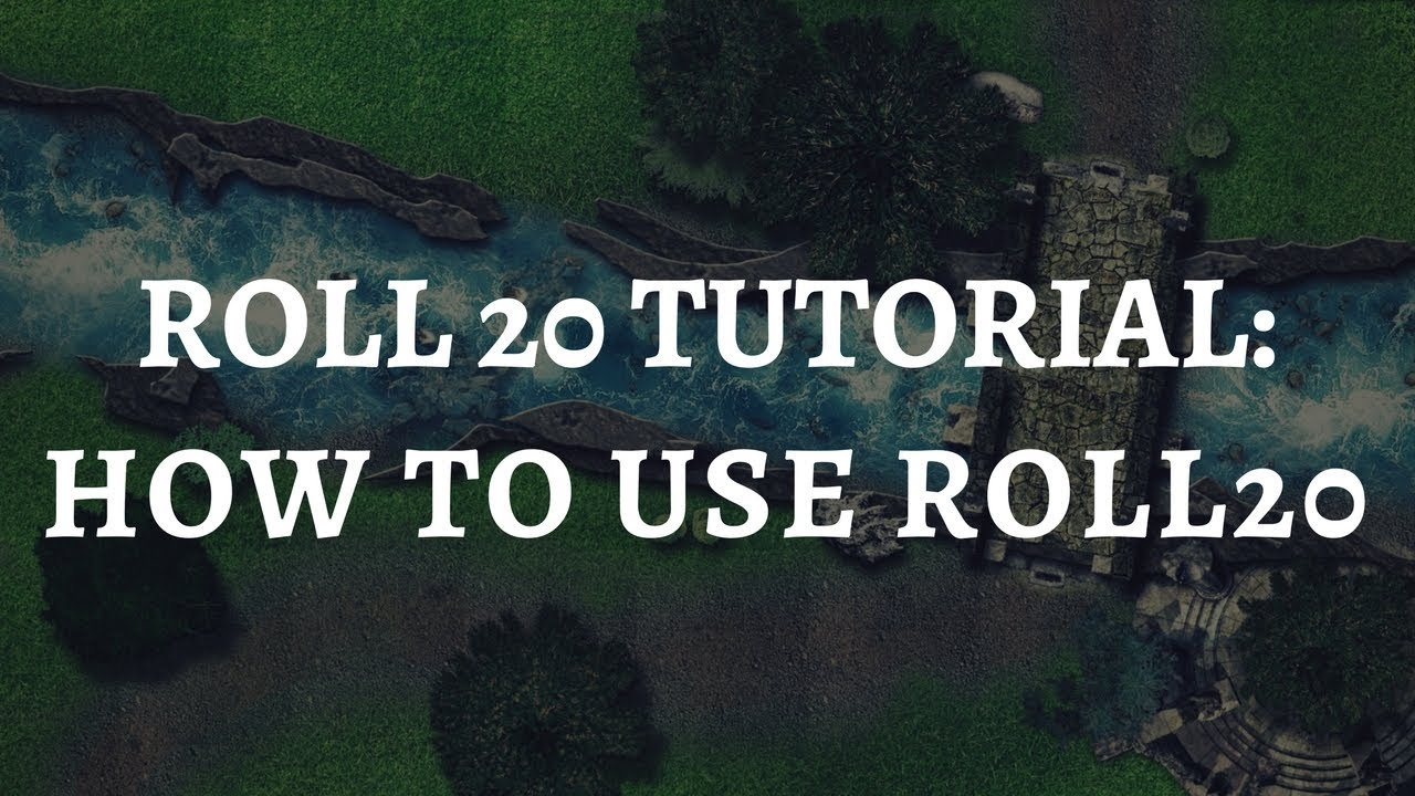 Roll20 Basic Tutorial: How to use Roll20