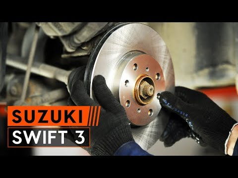 How to replace front brake discs and front brake pads set on SUZUKI SWIFT 3 [TUTORIAL AUTODOC]