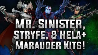 Mr. Sinister, Stryfe, & Hela + Marauder Kits! - MARVEL Strike Force - MSF