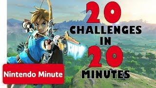 The Legend of Zelda: Breath of the Wild - 20 Challenges in 20 Minutes | Nintendo Minute