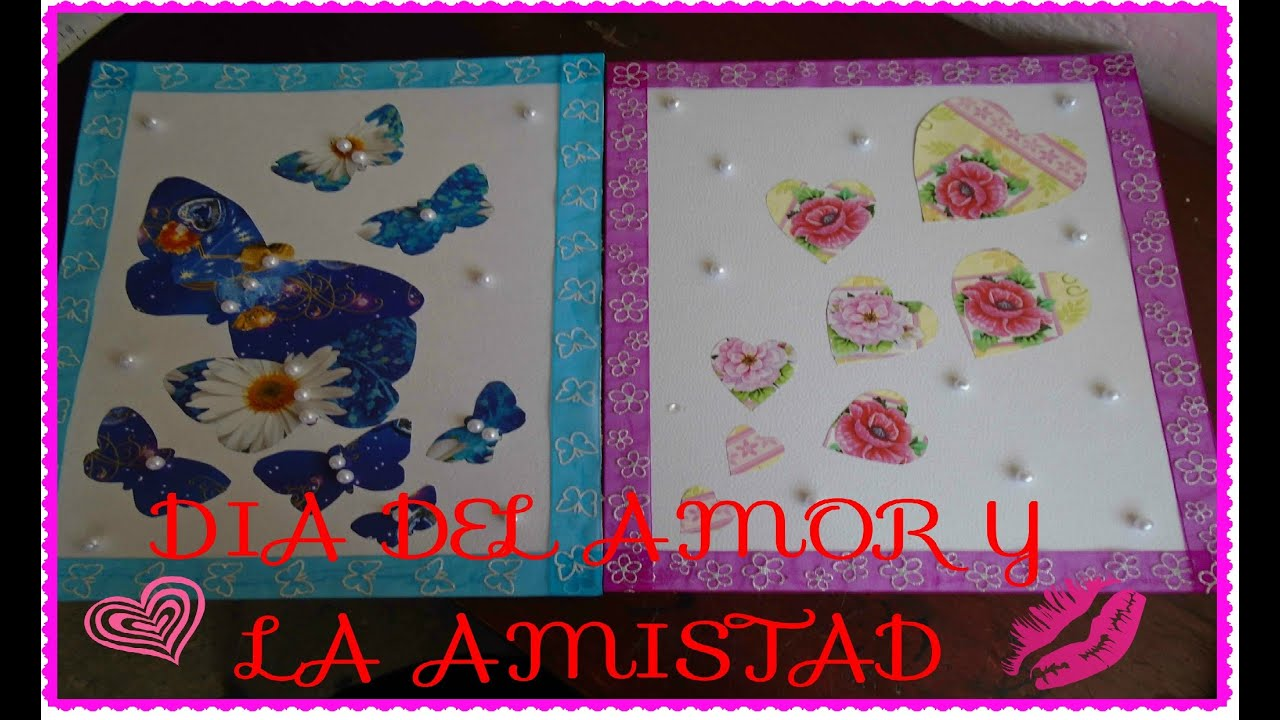 Cuadros para decorar tu cuarto regalo san valentin youtube - Cuadros pequenos para decorar ...