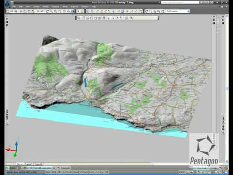 3D data in AutoCAD Map 3D 2009   YouTube 3D data in AutoCAD Map 3D 2009