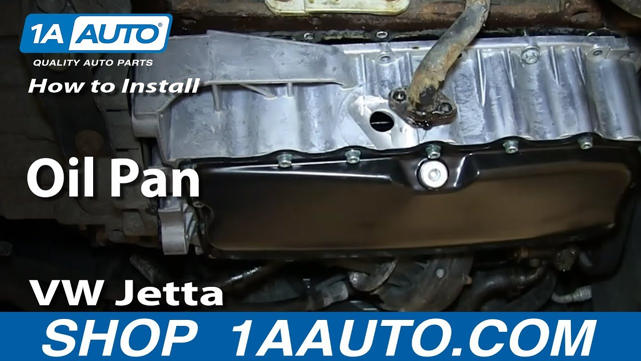 How To Install Replace Oil Pan 1 8t 2004 05 Volkswagen Vw