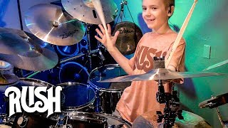"""Working Man, Rush"" Avery Molek, 9 year old Drummer"