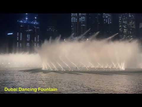 Amazing Dancing Fountain Show in Dubai   4K   UAE  dubai plus  2021  