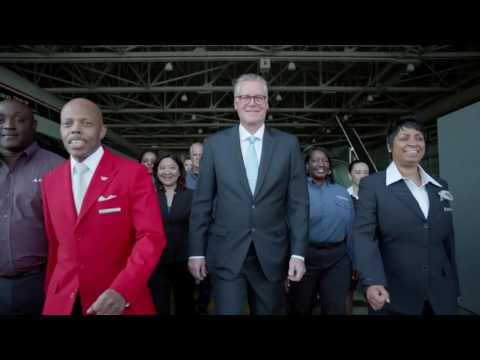 Delta Air Lines CEO Ed Bastian & Employees