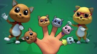котята палец семьи | 3d детские стишки для детей | бэби стишки | Kids Song | Kittens Finger Family