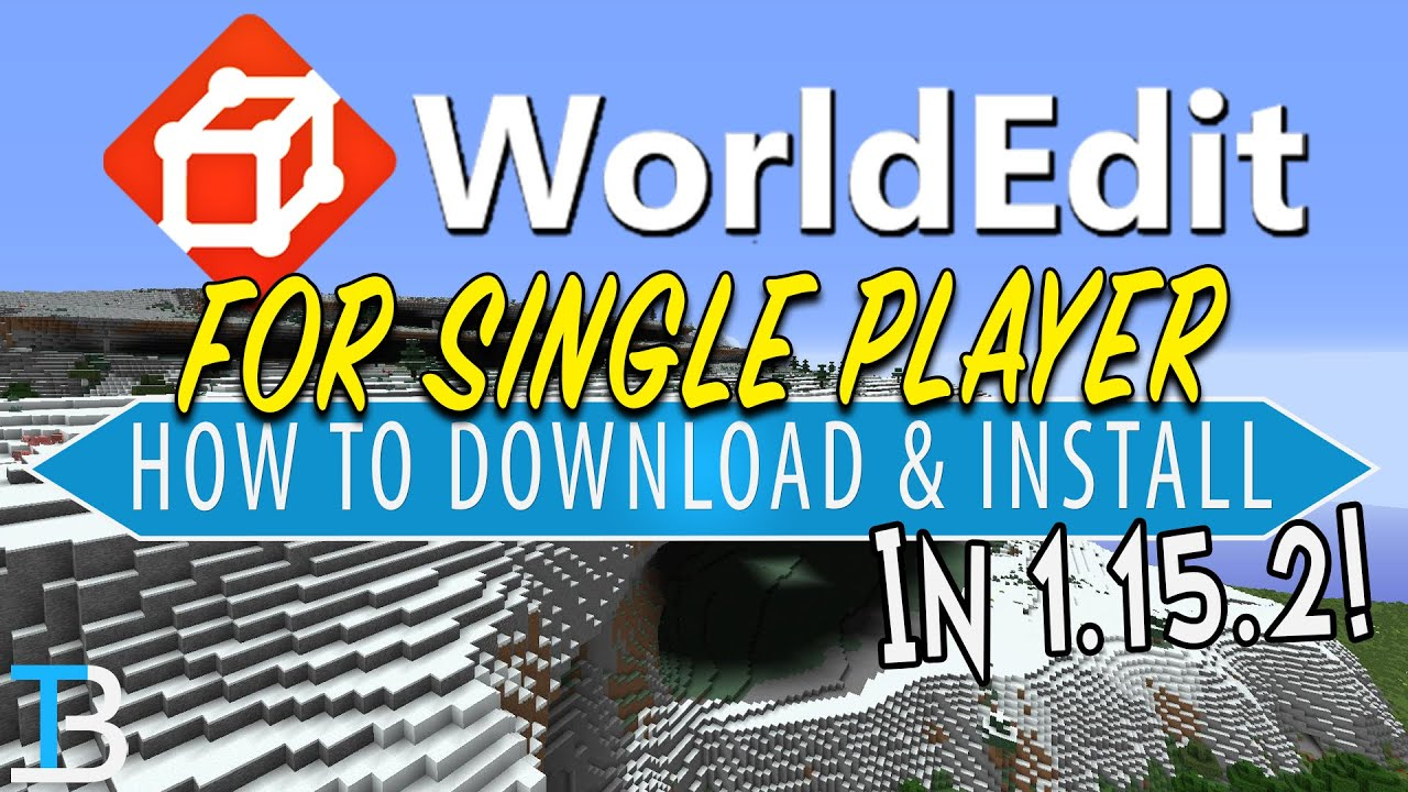 How To Download & Install World Edit in Minecraft 5.55.5 Single Player!