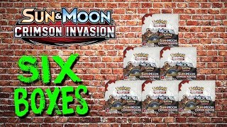 Opening 6 Pokemon booster boxes! Crimson Invasion