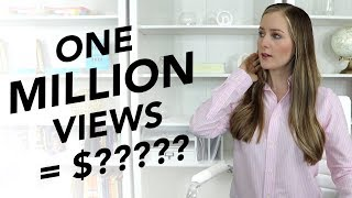 How much YouTube paid me for my 1 MILLION view video