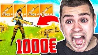 1000€ für eine Goldene Scar (Wette) in Fortnite!