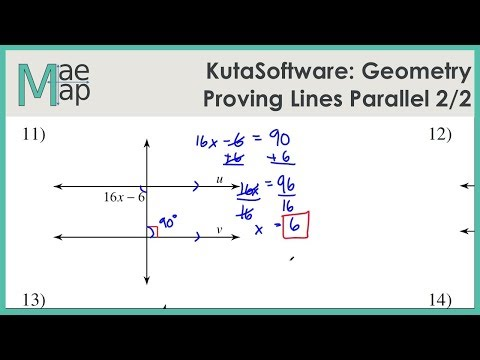 KutaSoftware Geometry Proving Lines Parallel Part 2 YouTube