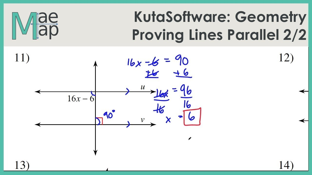 Kuta Geometry Proving Lines Parallel Part 2