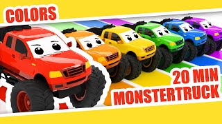 Learn Colors with Monstertrucks | Kids Babies Colors | Color Rainbow | Monstertruck Color