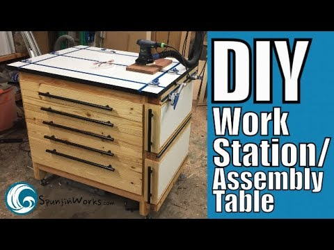 BEST DIY Assembly Table with Tons of Storage // How-To (Ep. 78)