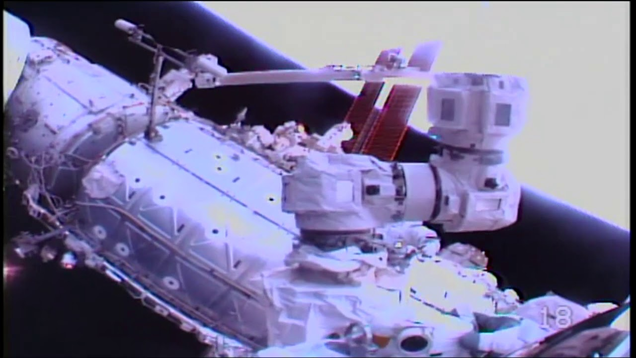 Space Station Crew Walks in Space to Conduct Robotics Upgrades