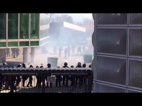 Part 2 .Riots after the match FC Basel - FC Zurich 10.04.2016