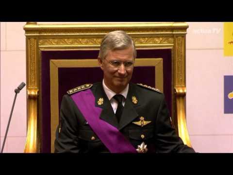 Eedaflegging koning Filip in parlement - 21 juli 2013 - integraal