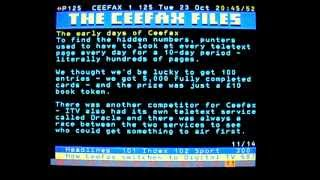 One last evening with Ceefax