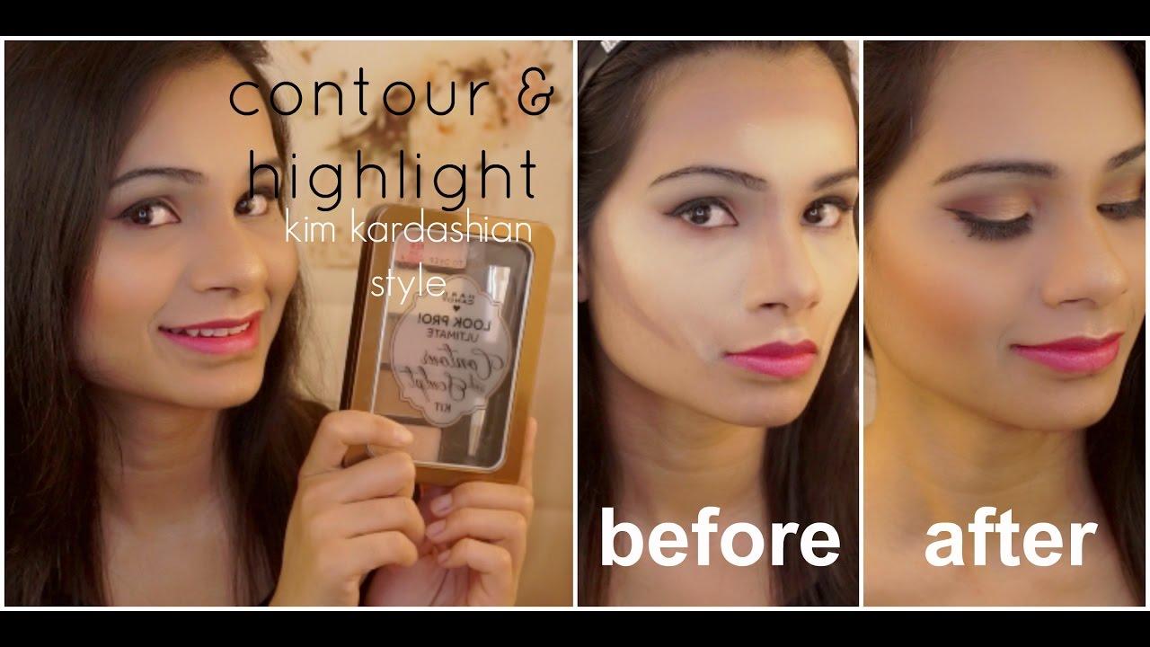 How To Contour & Highlight Like Kim Kardashian?  Ft Hard Candy Sculpt &  Highlight Kit