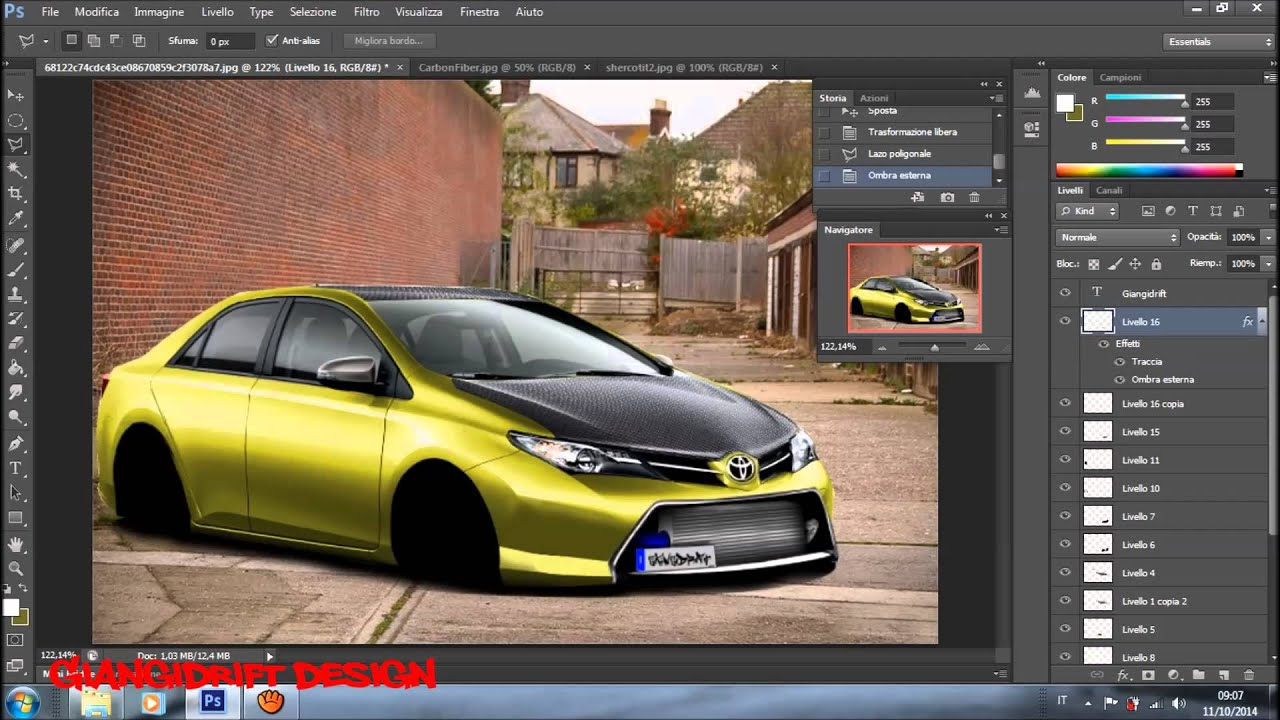 toyota auris virtual tuning photoshop youtube. Black Bedroom Furniture Sets. Home Design Ideas