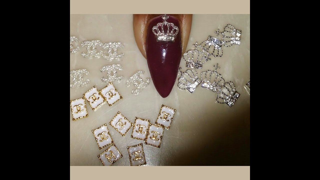 COCO CHANEL 3D NAIL DECALS AND CROWNS - YouTube