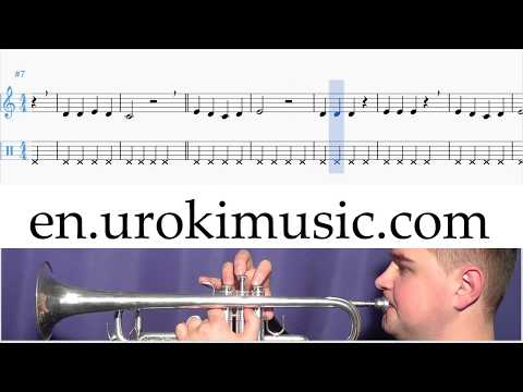 How to Play Trumpet Mary Had A Little Lamb C#1 S#1 L#8 Melody School Learn Class Course Tutorial She