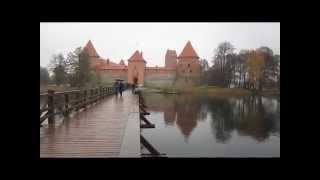 Die gotische Wasserburg Trakai in Litauen