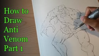 How to Draw Anti Vemom Part 1