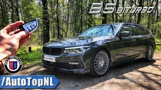 BMW ALPINA B5 BITURBO 608HP REVIEW POV Test Drive on AUTOBAHN & ROAD by AutoTopNL