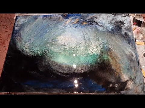 PIPELINE WAVE 1st Layer Resin Painting On Canvas 60cm X 80cm