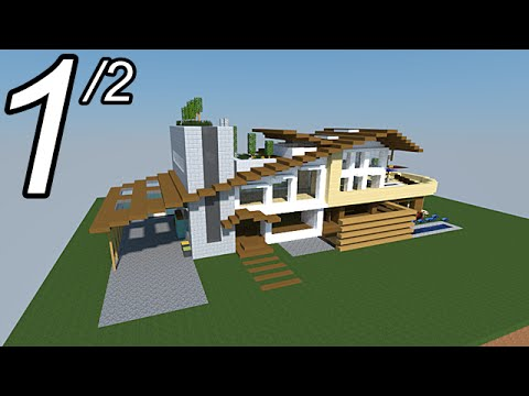 Minecraft Tutoriel Maison Moderne Video 1 2 Youtube