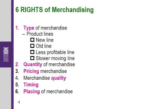 L4a 6 Rights of Merchandising 5 43