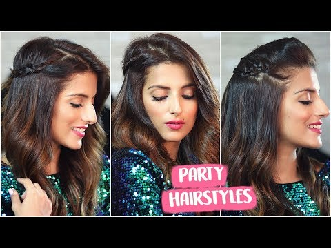3 EASY Party Hairstyles For Christmas & New Years / Quick Holiday Hairstyles thumbnail