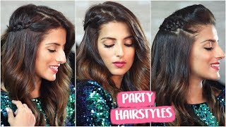 3 Easy Party Hairstyles For Christmas & New Years / Quick Holiday Hairstyles