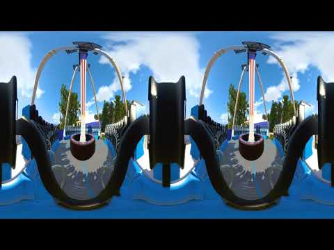VR Video 360° Extreme 360 Roller Coaster Frisbee Ride SBS converted