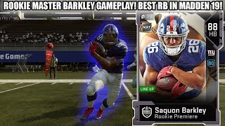 ROOKIE MASTER SAQUON BARKLEY GAMEPLAY! BEST RB IN MADDEN 19! 88 BARKLEY! | MADDEN 19 GAMEPLAY