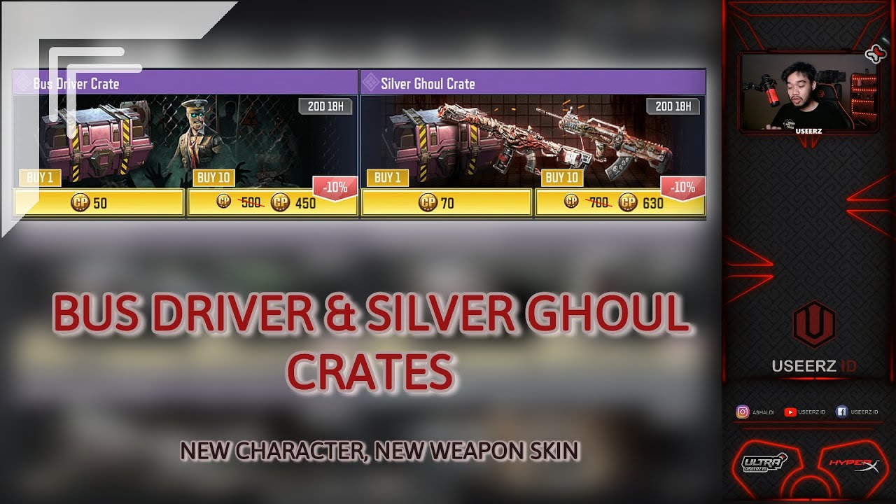 *NEW*BUS DRIVER & SILVER GHOUL CRATES, BUG AND ALL NEW ITEM AND SKIN - Call of Duty Mobile Indonesia