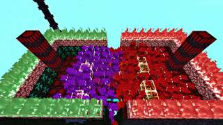 COMBATES| GOLEM ROJO VS GOLEM MORADO | AbyssalCraft Mod
