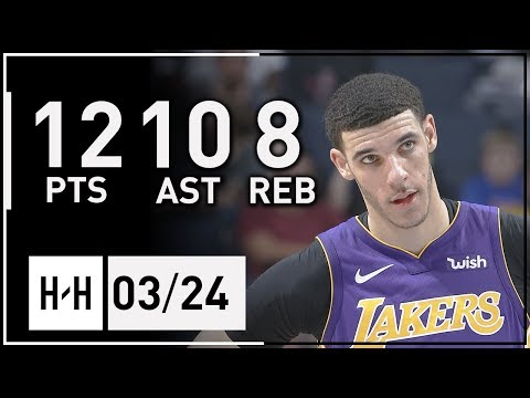 Download Youtube: Lonzo Ball Full Highlights Lakers vs Grizzlies (2018.03.24) - 12 Pts, 10 Ast, 8 Reb!