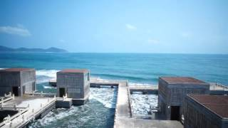 Best Intercontinental hotel China, aerial video Sanya China, Best luxury resort hotel China