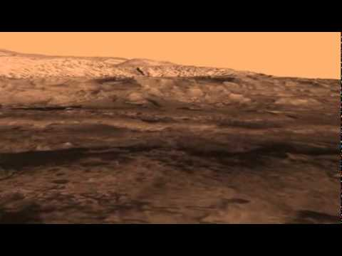 New Mars Science Rover Landing Site - Birds Eye View - YouTube